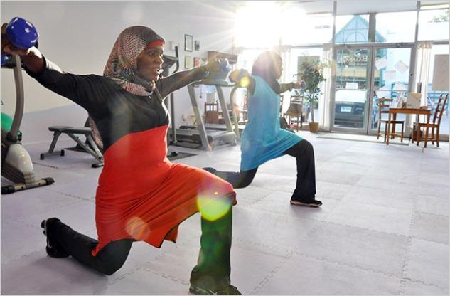 Hijabi fitness