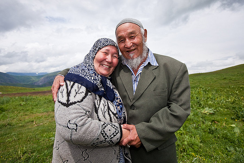 Older Muslim Couple