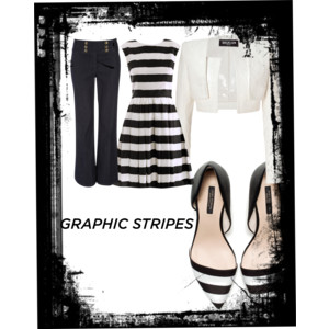 Outfit based on stripes